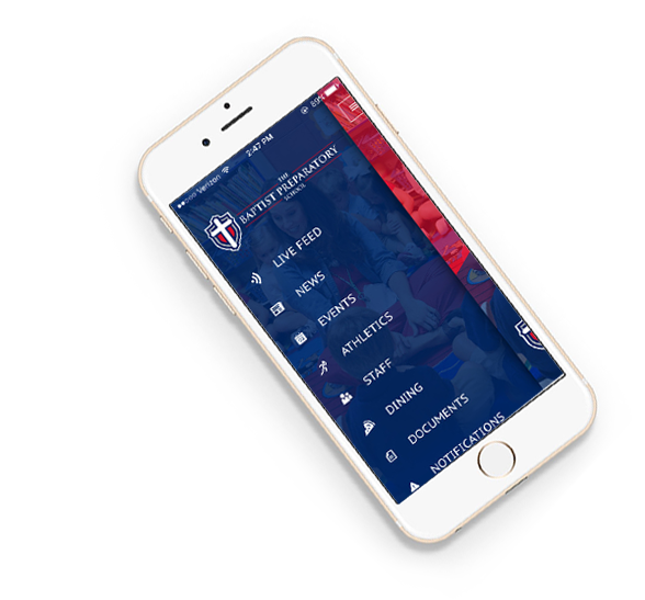 Baptist Preparatory school mobile app.