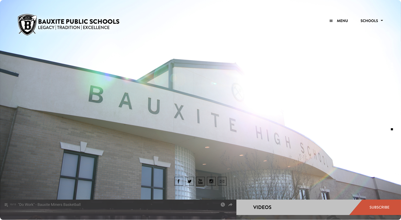 Bauxite school website design