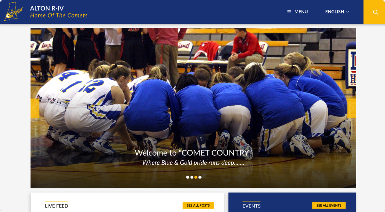 Alton school website design