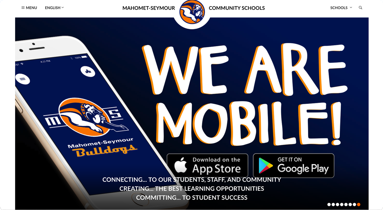 Mahomet Seymour school website design