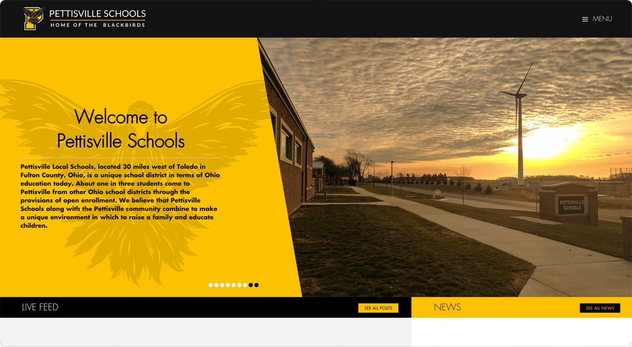 Pettisville school website design